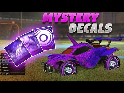 NEW 'STORM WATCH' 'CHAMELEON' AND 'TRIGON' MYSTERY DECALS (New Rocket League Update Showcase)