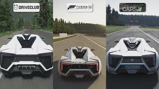 DriveClub vs Forza 6 vs Project CARS - W Motors Lykan HyperSport Sound Comparison