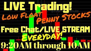 Live day trading Stream: low float penny stocks