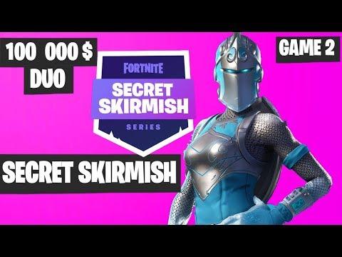 Fortnite Secret Skirmish DUO Game 2 Highlights - Fortnite Tournament 2019