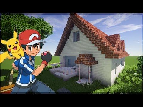 Minecraft: CONSTRUINDO A CASA DO ASH KETCHUM (POKÉMON)