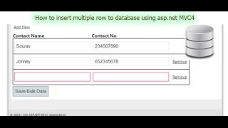 How to insert multiple row to database using asp.net MVC4