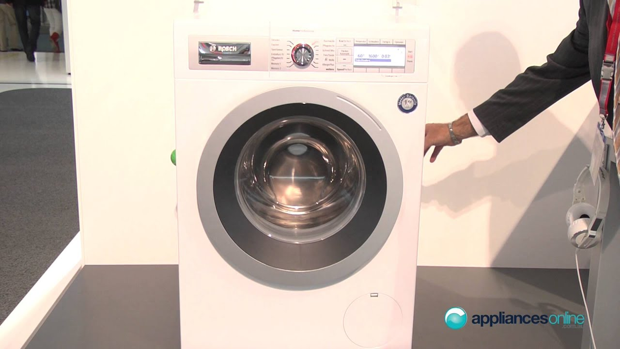 bosch home professional washing machine range with eco silence drive appliances online youtube. Black Bedroom Furniture Sets. Home Design Ideas