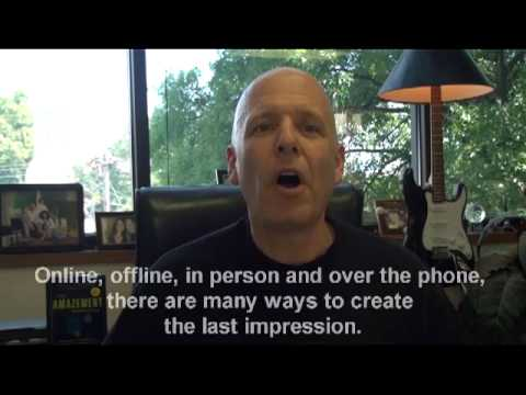 Customer Service Tip: Creating a Last Impression by Shep Hyken