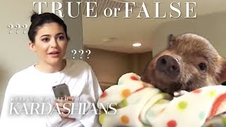 Did Kylie Jenner Mistake A Pig For A Chicken? | So True / So False | KUWTK | E!