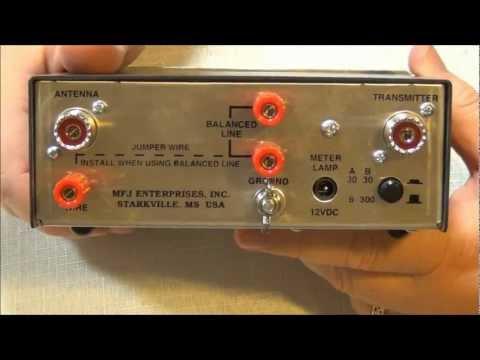 MFJ-971 Portable Antenna Tuner. 1.8 -- 30 MHZ. Overview -- AF5DN