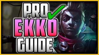 HOW TO PLAY EKKO JUNGLE LIKE A PRO IN 18 MINUTES - Ekko Jungle Commentary Guide - League of Legends