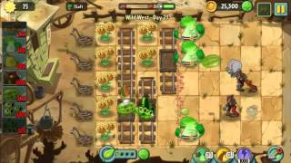 [Tip] Wild West Day 23 Different Way - Plants vs Zombie 2 Walkthrough