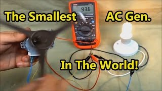 The Smallest AC Generator In The World!