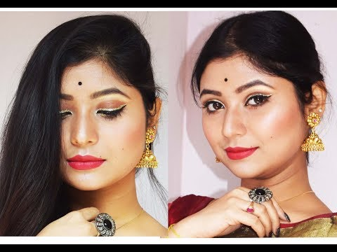 Wedding Guest Makeup Tutorial Step by Step/Parna's Beauty World