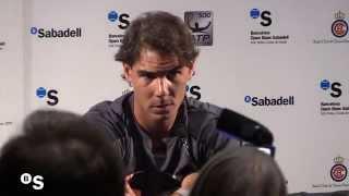Rafael Nadal. Rueda de prensa - Barcelona Open Banc Sabadell 2014