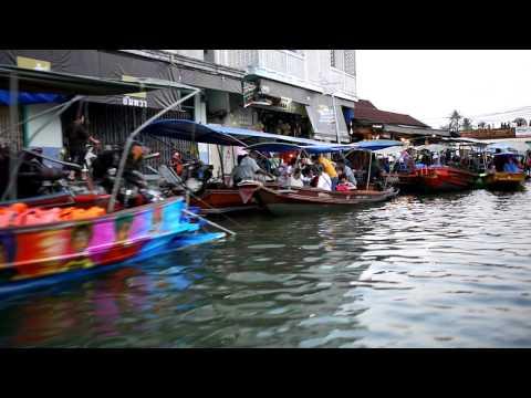 [曼谷 Bangkok] 河岸風光:安帕瓦水上市場 Amphawa Floating Market 1