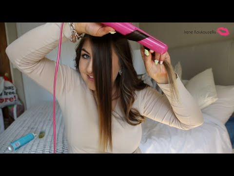 How to curl your hair with a flatiron – Every day messy curls – Hair tutorial – From South Africa