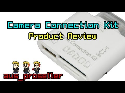 Camera Connection Kit for iPhone. iPod Touch and iPad