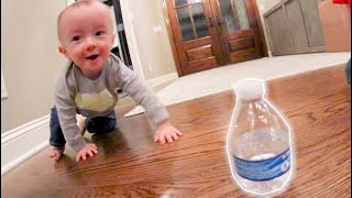 BABY DOES A BOTTLE FLIP!
