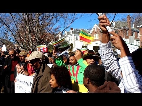 Rally for Ethiopian Airlines Co-Pilot in Washington DC. Switzerland Embassy