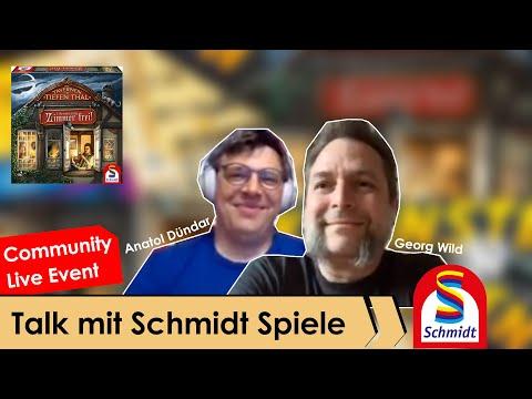 Talk mit Anatol und Georg von Schmidt Spiele - Community Live Event Aufzeichnung mit Gewinnspiel