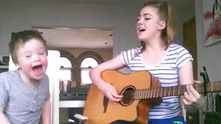 Sister Sings Duet with Brother with Down Syndrome
