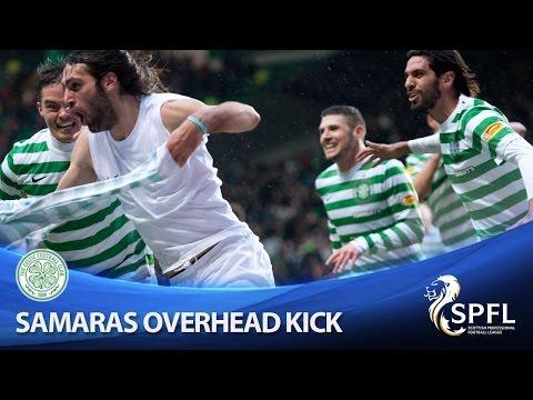 Georgios Samaras Scores Overhead Winning Goal, Celtic 4-3 Aberdeen, 16/03/2013
