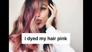 I Dyed My Hair pink! // Testing L
