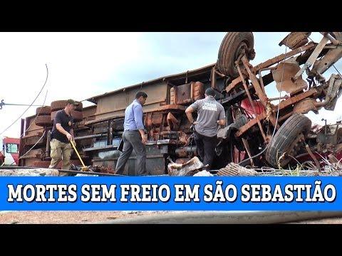 Quatro pessoas morrem em acidente com carreta em S�o Sebasti�o (26/03/2014)