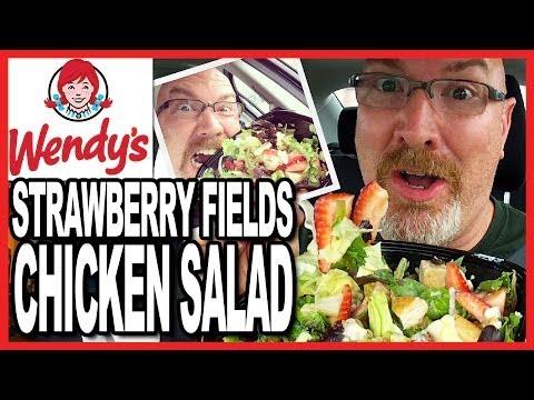 Wendy's ♥ Strawberry Fields ♥ Chicken Salad + Drive Through Test