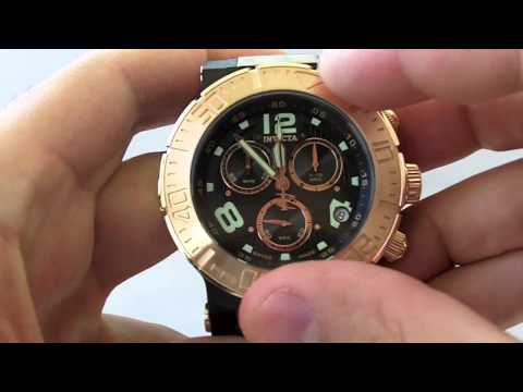 Invicta Watches   Men's 6763 Ocean Reef Reserve Collection 18k Rose Gold Chronograph Swiss Made Watch