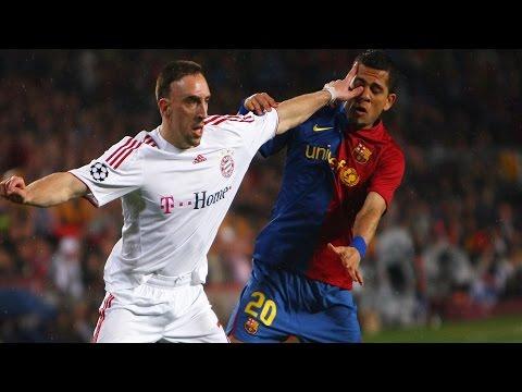 """Dani Alves: """"Ribery es un pesado, no me gusta jugar contra él"""""""