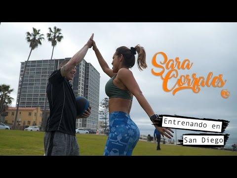 Sara Corrales en EC San Diego - Entrenando