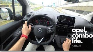 2019 Opel COMBO Life 1.5 diesel 102 HP    4K POV Test Drive #107 Joe Black