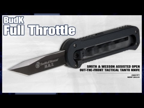 Smith & Wesson Assisted Open Out-The-Front Tactical Tanto Knife - $36.99