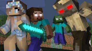 Monster school : Zombie Get Home | Herobrine Life Part 14 -Minecraft Animation