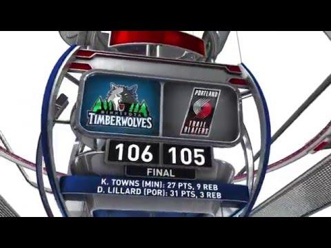Minnesota Timberwolves vs Portland Trail Blazers - April 9, 2016