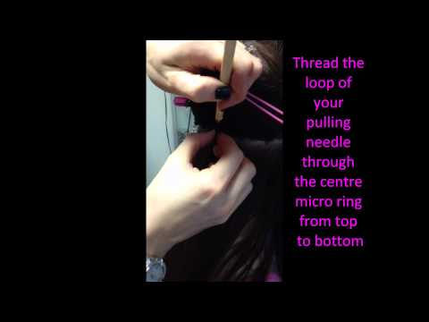 Foxy Hair Extensions - How to apply a Micro Ring Weft