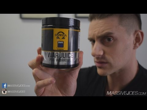 Omega Supreme WAR JUICE Pre-Workout Supplement Review - MassiveJoes.com Raw Review Mike Rashid