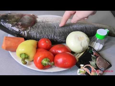 Толстолоб запеченный с овощами
