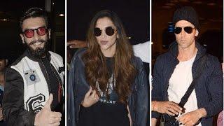 Hrithik Roshan, Ranveer Singh & Deepika Padukone Spotted at Mumbai Airport | Latest Bollywood News