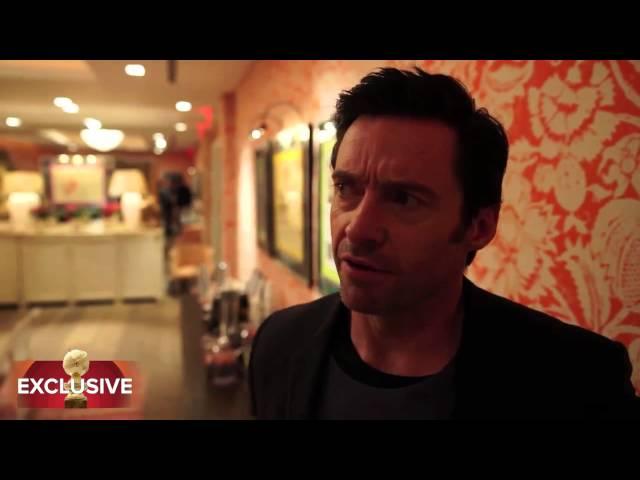 "Hugh Jackman Talks ""Chappie"" HFPA Exclusive"