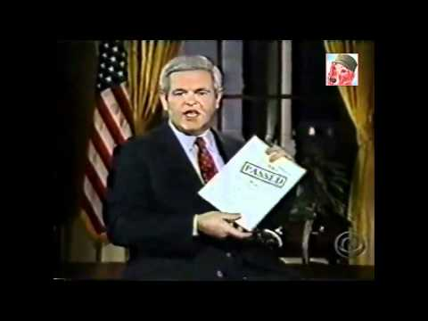 1995 ~ new House Speaker, Newt Gingrich ~ makes unprecedented request for TV air time