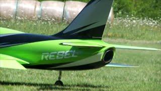Test flight of Giant Rc Jet Pirotti REBEL PRO on GACV airfield