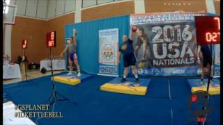 184 Left arm snatch 32 kg kettlebell in 10 minutes Ivan Denisov.