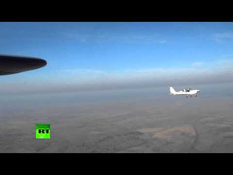 Ejector-seat test footage - Russian firm touts light plane breakthrough