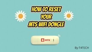 [HINDI] HOW TO RESET MTS DONGLE WIFI