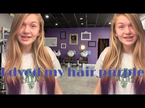 How to dip dye your hair with Splat purple hair dye   kyleerose101