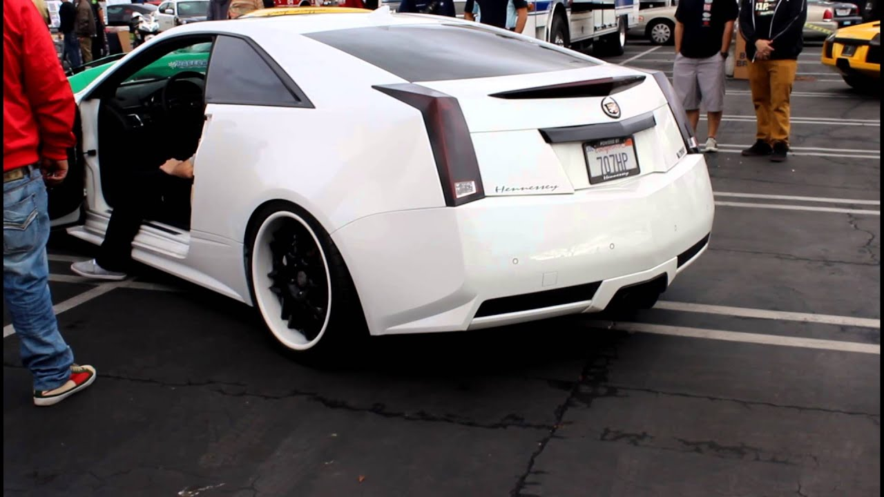 707HP Cadillac CTS-V Coupe Hennessy Upgrade Package - YouTube