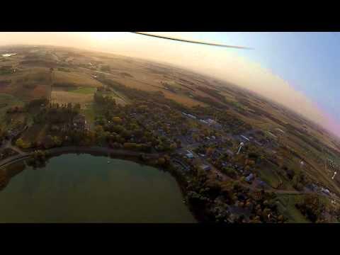 Sunrise over Lake Benton, Cologne MN, Sept 28, 2012 from my Electr, Carl Goldberg Falcon III, Part 2