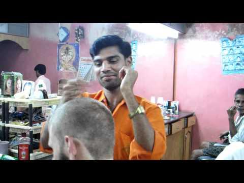 Bantwala Mangelore Haircut Head Massage - Tour De India video