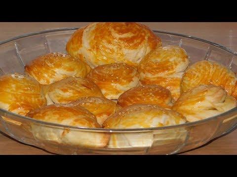 Самые нежные слоёные пирожки/булочки