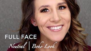 Neutral | Boho Full Face using James Charles x Morphe Palette