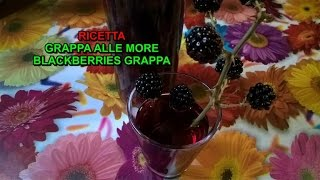 Grappa alle more ricetta semplice e immediata tutorial